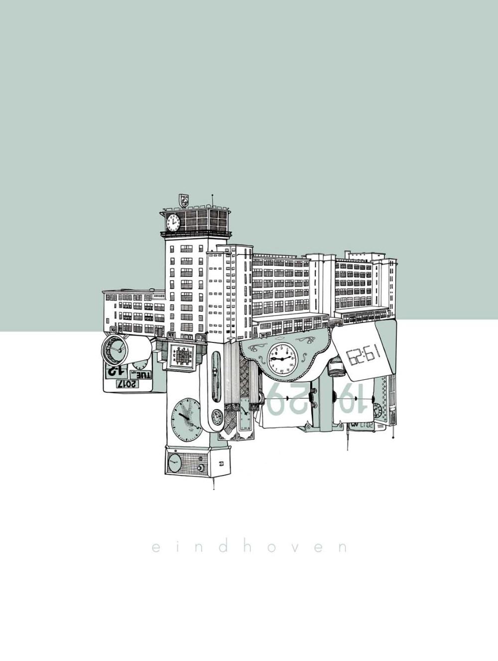 Centprent_eindhoven_illustratie_1500px_klokgebouw