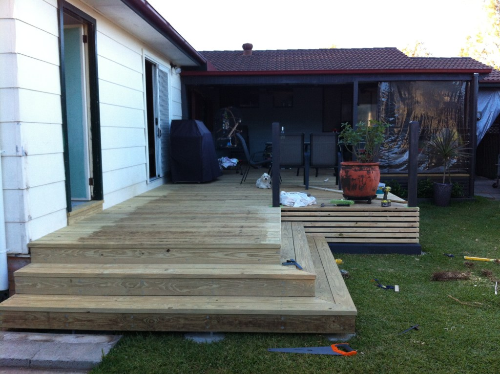 stylish new wrap around deck stairs berkeley vale