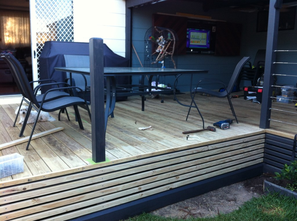 decking ready to sand
