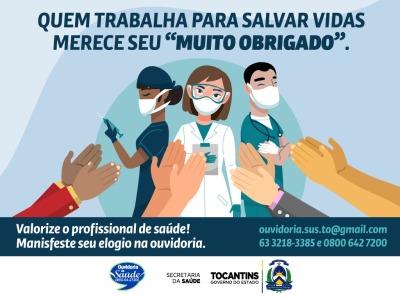 Campanha busca promover elogios aos profissionais de saúde como forma de incentivo.