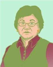"""Roza Otunbaeva - Picture from the upcoming project """"40 Women of Kyrgyzstan: From Past to Present""""."""