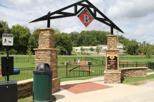 Entrance to Bentonville Bark Park