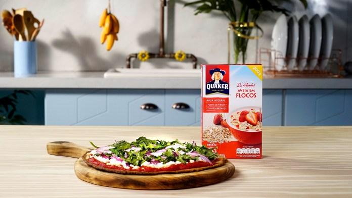 Pizza com Massa de Batata Doce e Aveia