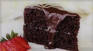 Recheio e cobertura para bolo de chocolate