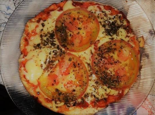 Massa de pizza de frigideira