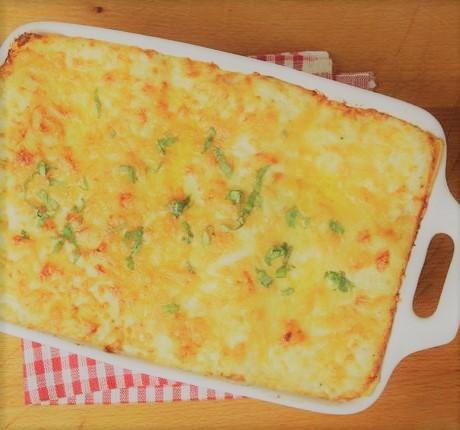 Lasanha de frango com queijo