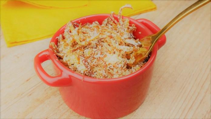 farofa com cebola crocante