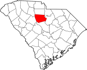 Fairfield County Outline Map of South Carolina