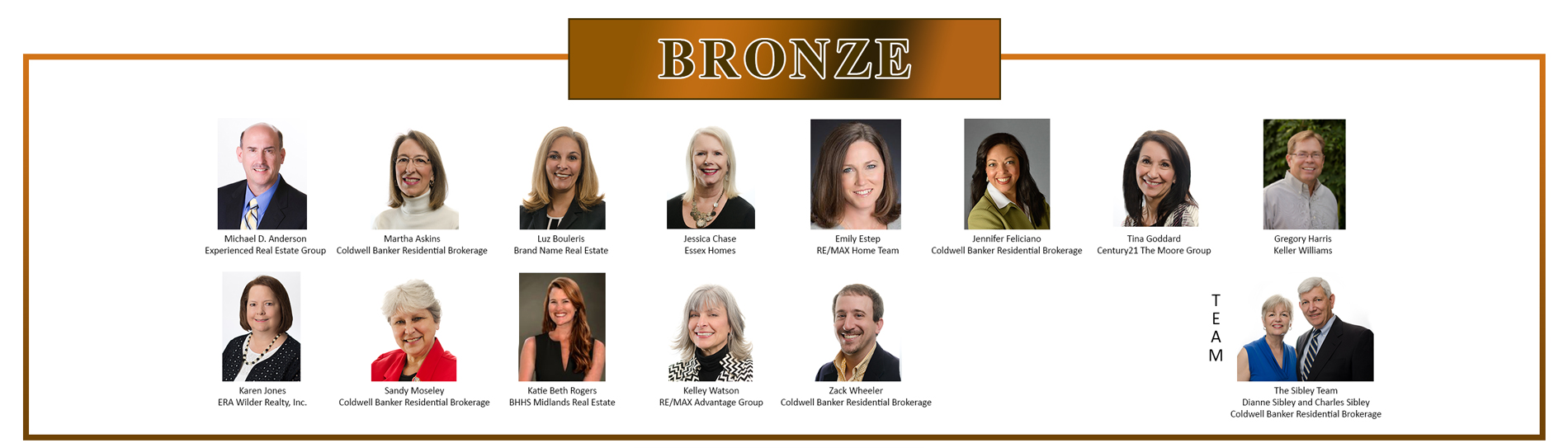 Bronze Residential Circle of Excellence Winners - 2016