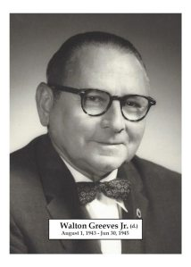 1943 to 1945 - Walton Greever Jr