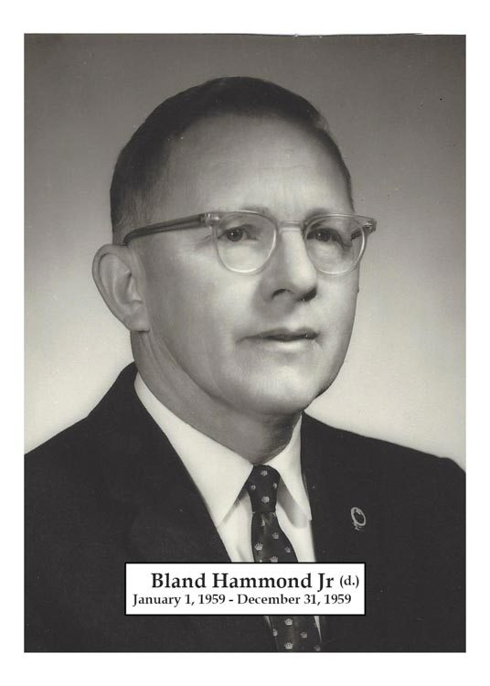 1959 - Bland Hammond Jr