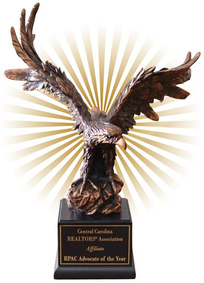 Eagle Statue on pedestal representing Affiliate Advocate of the Year
