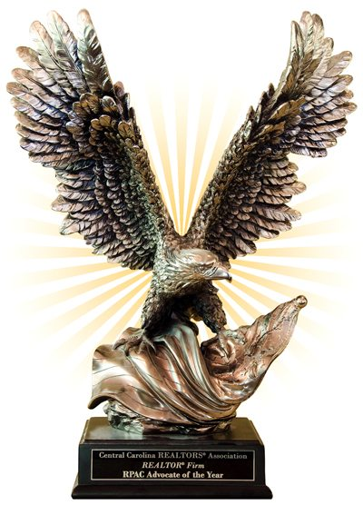 Eagle Statue on pedestal representing REALTOR® Firm Advocate of the Year