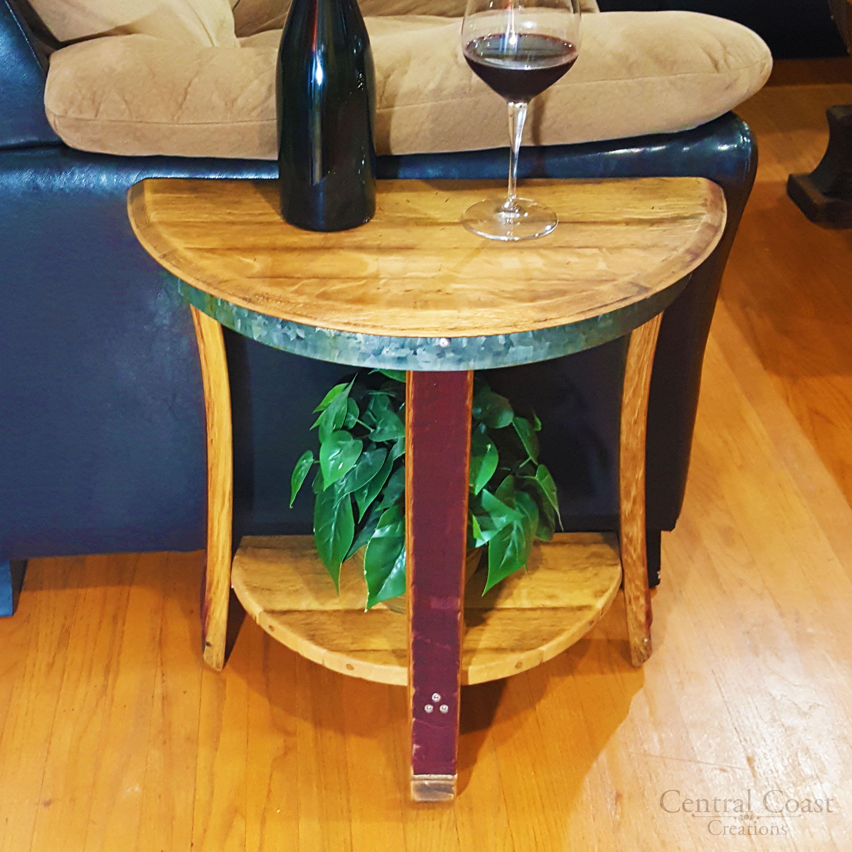 Small Half Moon Side Table