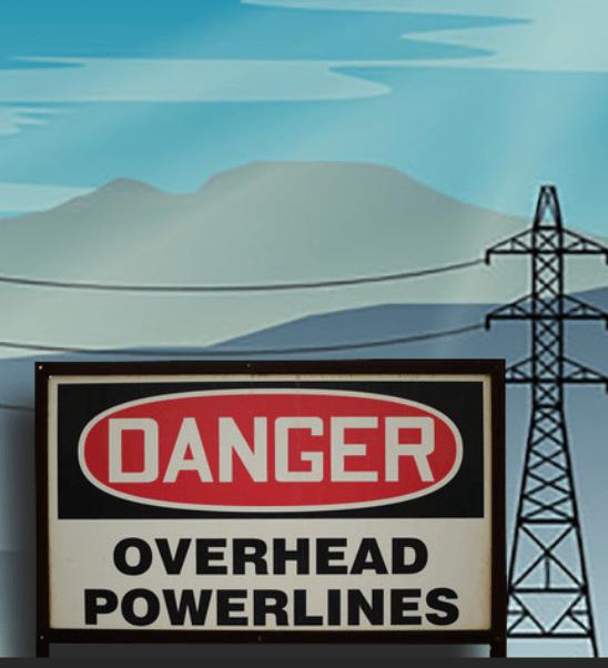 Central Coast level 2 Overhead power lines