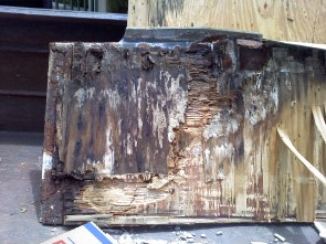 Hides a lot of dry-rot underneath!