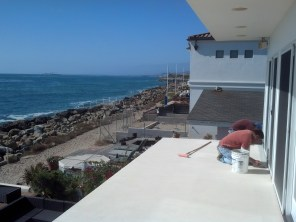 What a view we have while working on painting the deck.