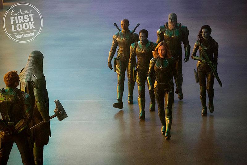 Brie Larson, traje Capitan Marvel
