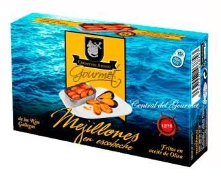 conservas areoso mejillones gourmet 12-16 escabeche rias gallegas