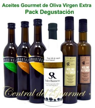 Aceites Gourmet de Oliva Virgen Extra Pack degustacion