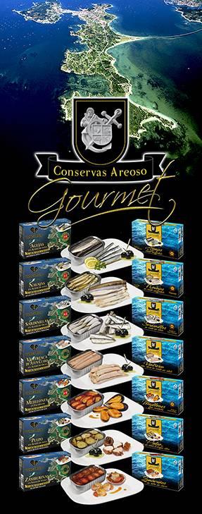 Conservas de marisco Gourmet de conservas Areoso grupo vengarco