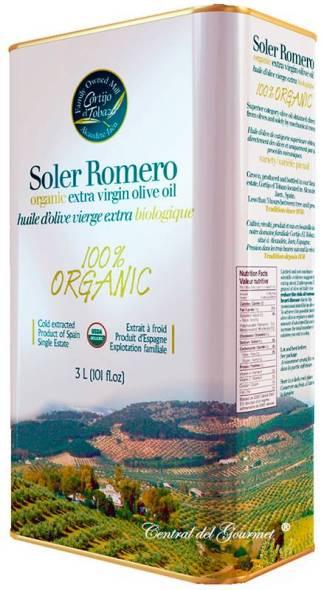 Aceite de Oliva Virgen Extra Ecológico Picual Soler Romero