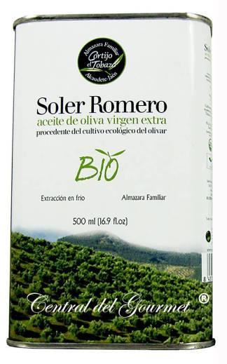 Aceite de Oliva Virgen Extra Ecológico Picual , Soler Romero, lata 500 ml