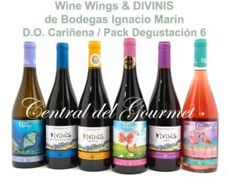 Wine Wings & Divinis Pack Degustación 6, de Bodegas Ignacio Marín