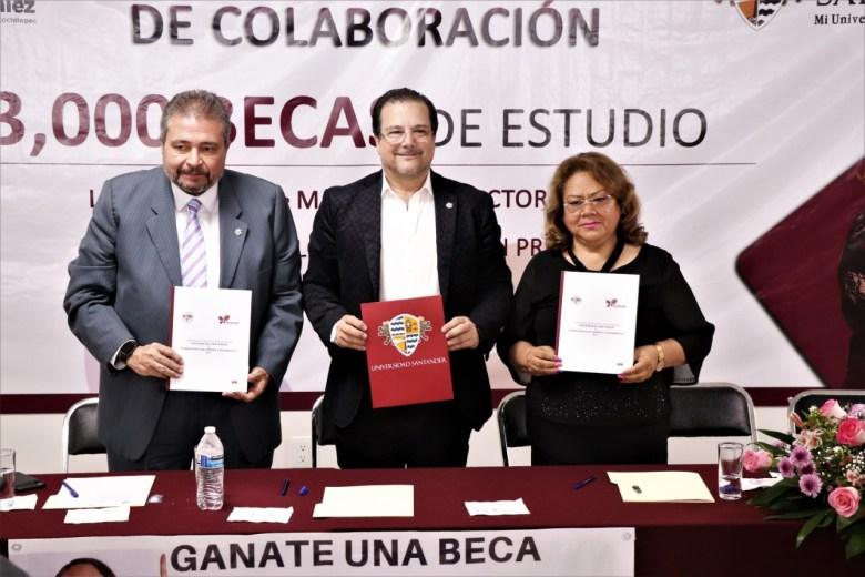 SUSCRIBE CONVENIO DE COLABORACIÓN LA DIPUTADA ELSA DELIA GONZÁLEZ CON LA UNIVERSIDAD SANTANDER . 02jpeg