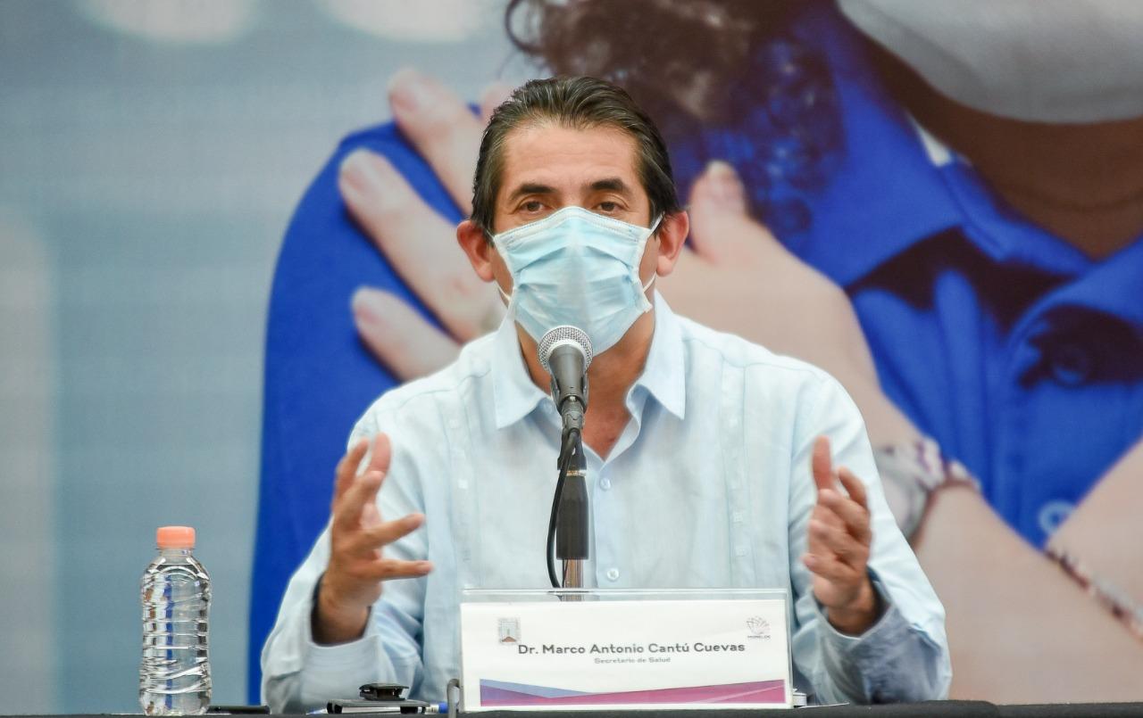 Secretario de Salud de Morelos, Marco Antonio Cantú Cuevas