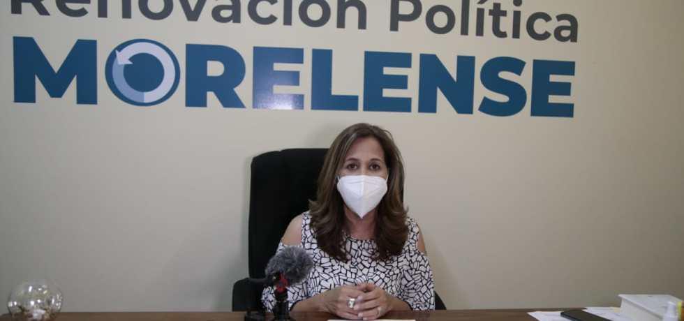 Leticia Salgado Peña presidenta de Renovación Política Morelense