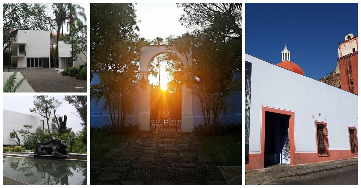Collage de fotos de museos del Centro de Cuernavaca Morelos