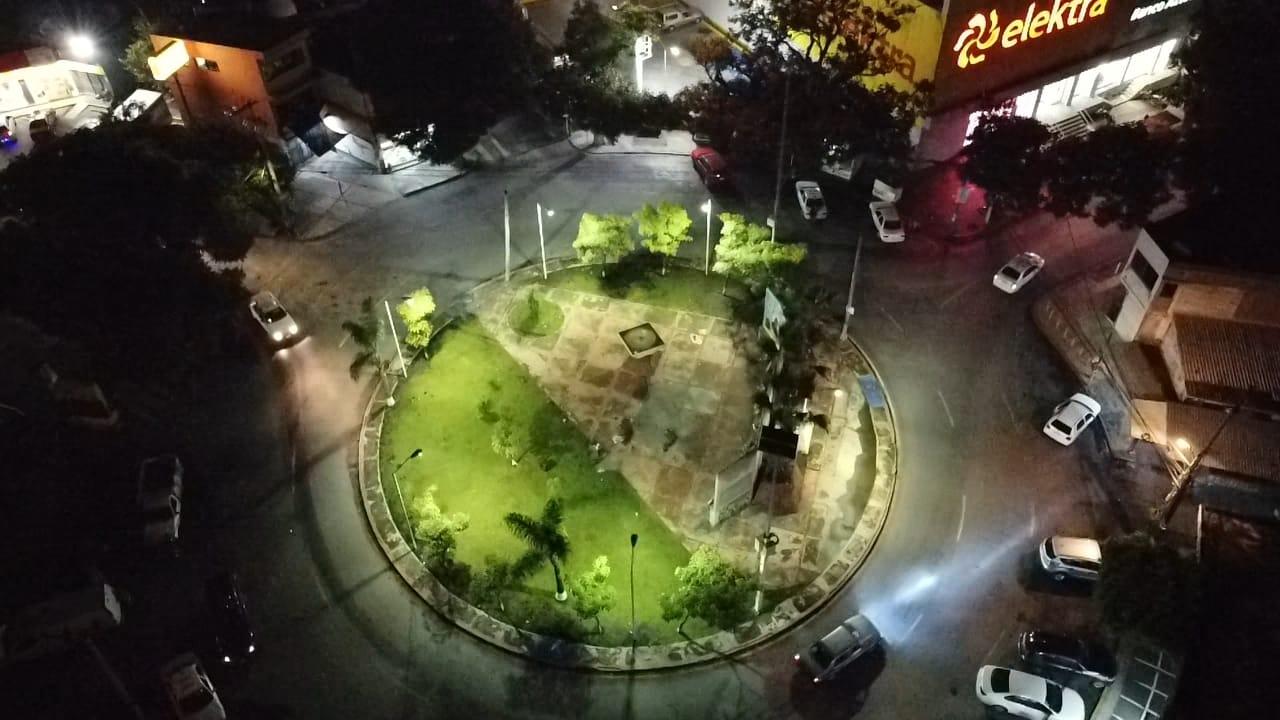 El Gobierno de Cuernavaca renovó la iluminación de la Glorieta Antonio Barona