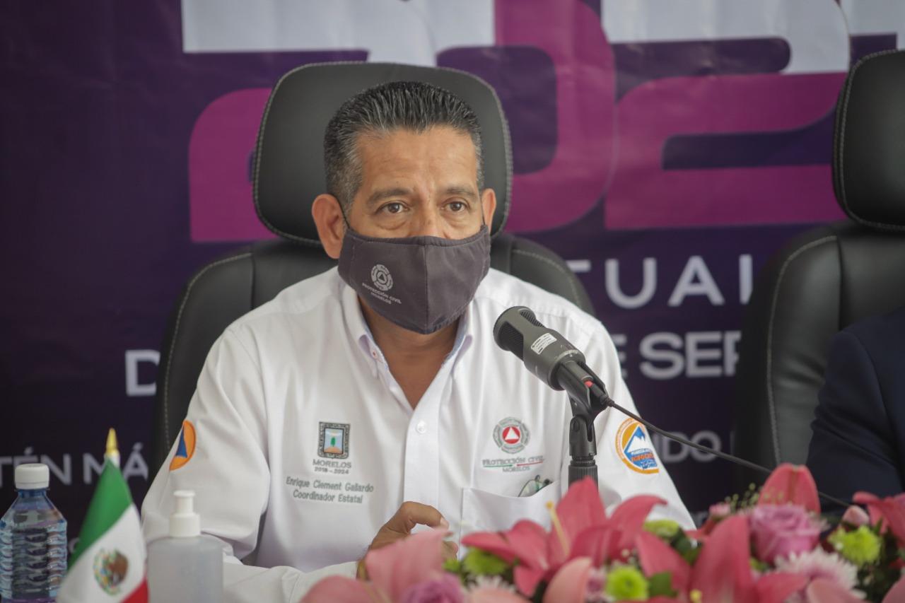 Enrique Clement Gallardo Director de Protección Civil en Morelos