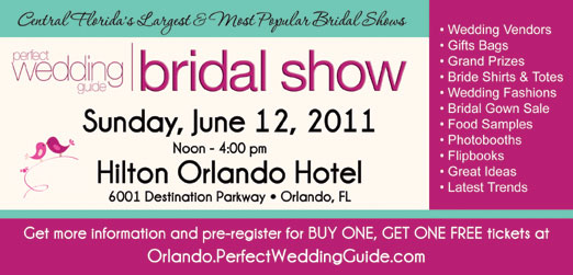 Orlando Perfect Wedding Guide Bridal Show June 12, 2011