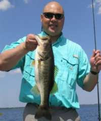 Central Florida Bass Fishing Guides Clients can catch not only numbers, but also Trophy Bass on Lake Walk in Water