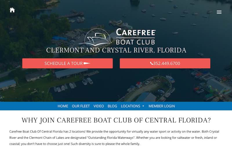 Carefree Boat Club Central Florida