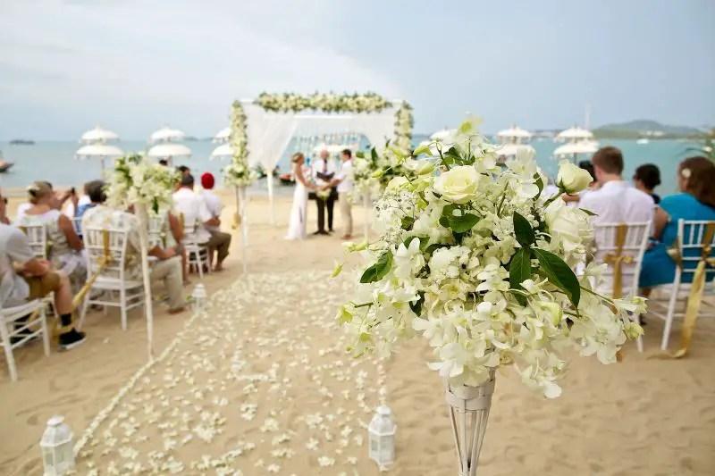 beach decor florida beach wedding