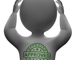 Approved Stamp On Man