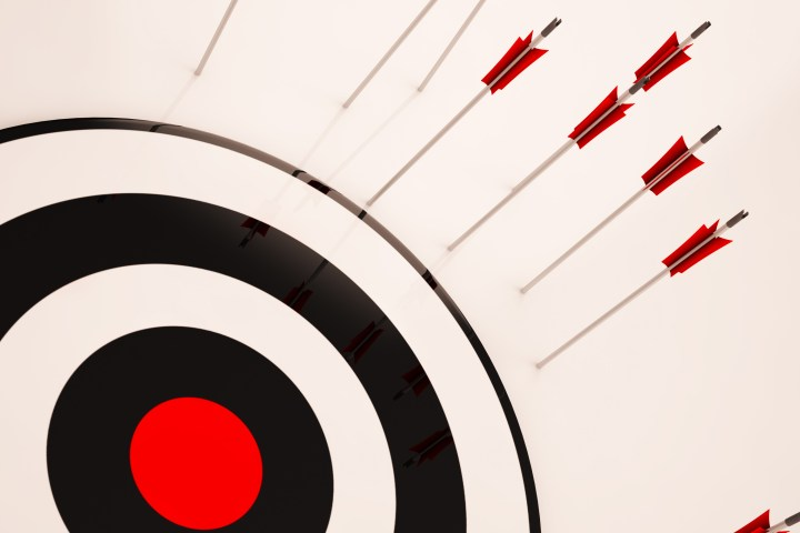 Missed Target Showing Failure Loss And Unsuccessful Aim