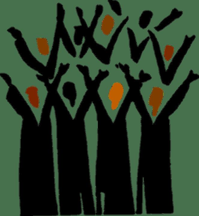 Stylized choir image