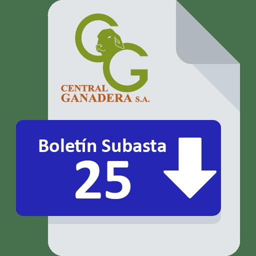 Resultados Subasta 25