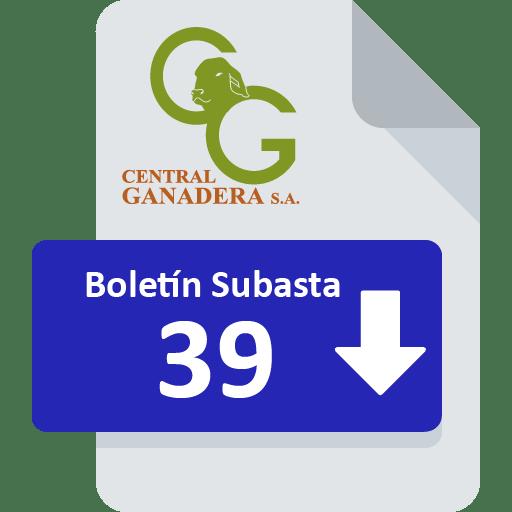 Resultados Subasta 39
