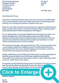 Guaranteed Rental Payments Ian Huckle Testimonial