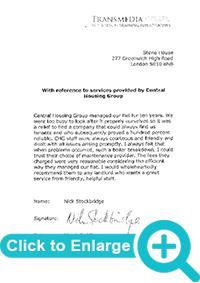 property management service Nick Stockbridge Testmonial