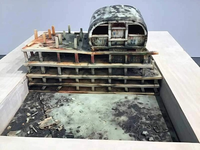 Sculpture reveals the architectural scars of conflict at ISU Galleries