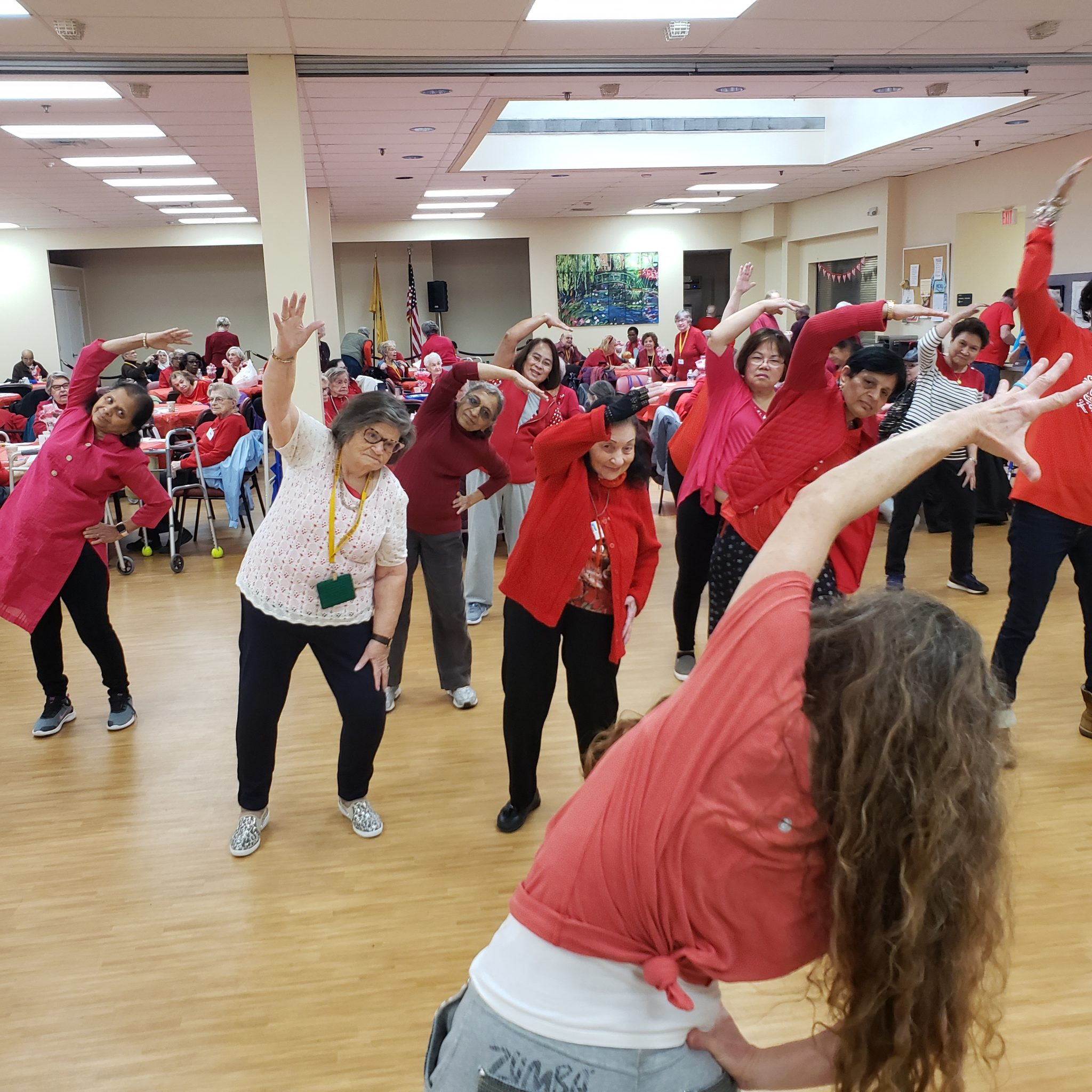 Seniors Go Red In Old Bridge To Recognize American Heart