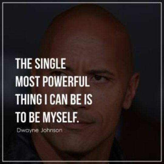 The single most powerful thing I can be is to be myself.