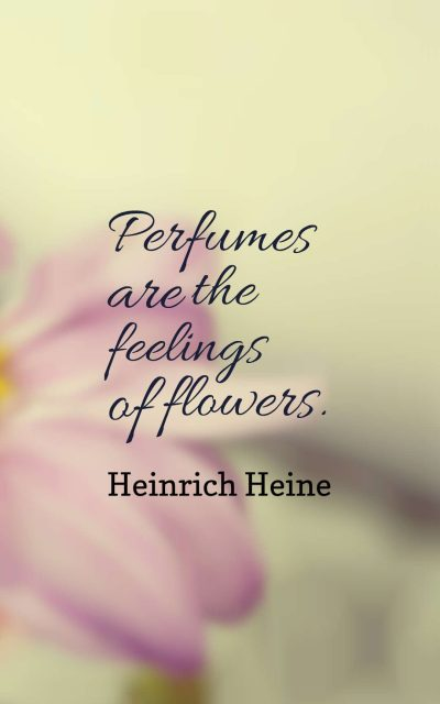 Perfumes are the feelings of flowers.