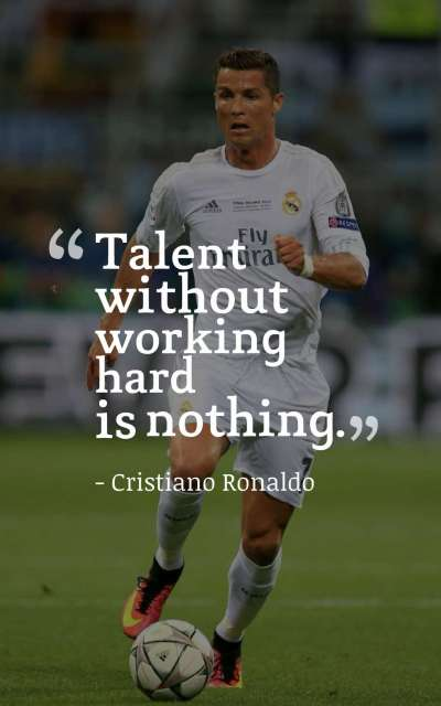 Talent without working hard is nothing.